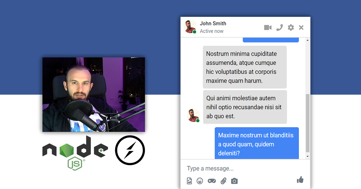 Facebook Chat App using Node.js and Socket.io